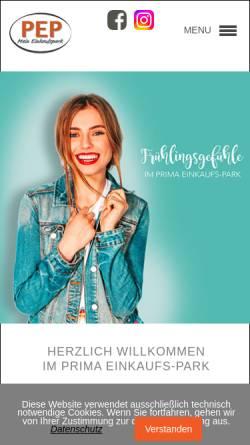 Vorschau der mobilen Webseite www.pep-eisenach.de, PEP Prima-Einkaufs-Park