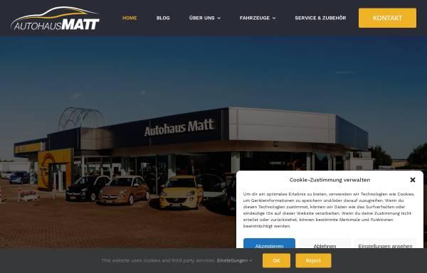Vorschau von www.autohausmatt.de, Autohaus Matt GmbH