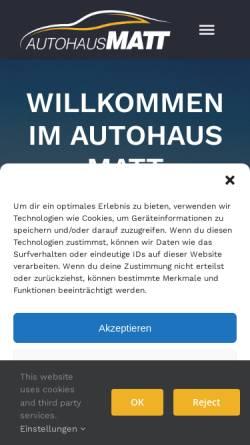 Vorschau der mobilen Webseite www.autohausmatt.de, Autohaus Matt GmbH