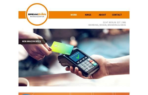 Vorschau von www.breakeven-berlin.de, Breakeven Gesellschaft für Werbung und Kommunikation mbH
