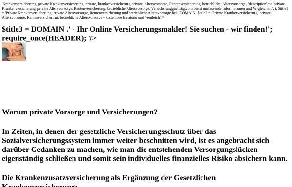 Vorschau von www.versicherungguenstig.com, GFM Consulting Ltd.