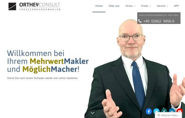 Vorschau von www.orthey.de, Orthey Westerwald-Consult Versicherungsmakler GmbH & Co. KG