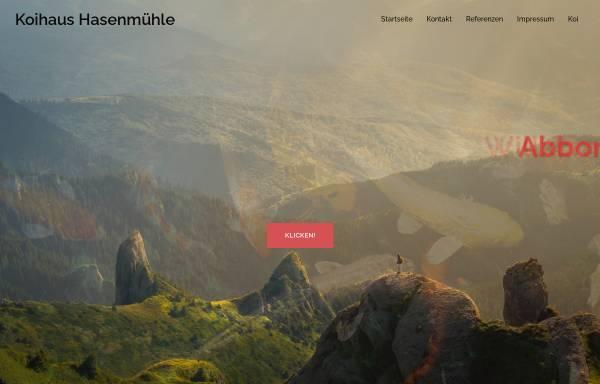 Vorschau von www.koihaus-hasenmuehle.de, Koihaus-Hasenmühle
