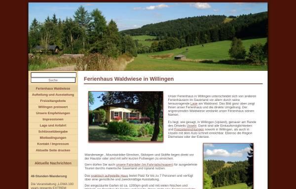 Vorschau von www.willingen-ferienhaus.com, Ferienhaus Waldwiese
