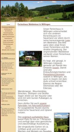 Vorschau der mobilen Webseite www.willingen-ferienhaus.com, Ferienhaus Waldwiese