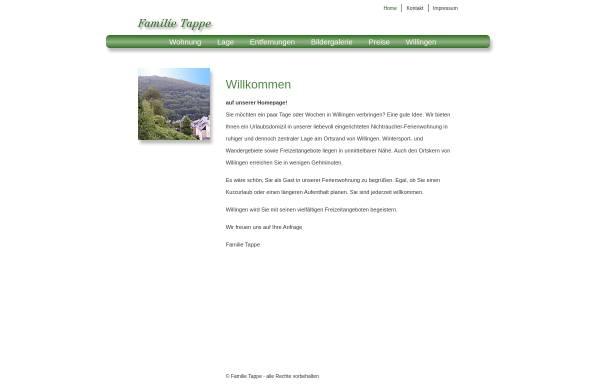 Vorschau von www.willingen-domizil.de, Ferienwohnung Tappe
