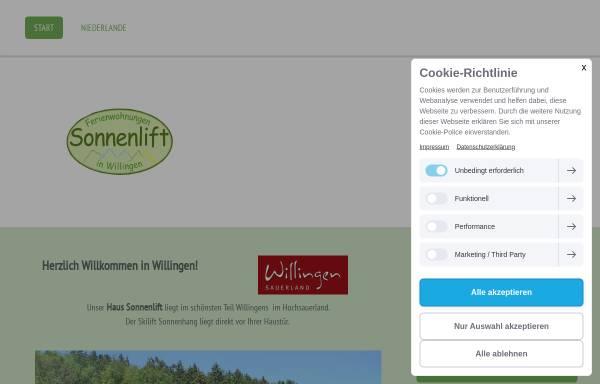 Vorschau von urlaub-in-willingen.de, Ferienwohnungen Sonnenlift