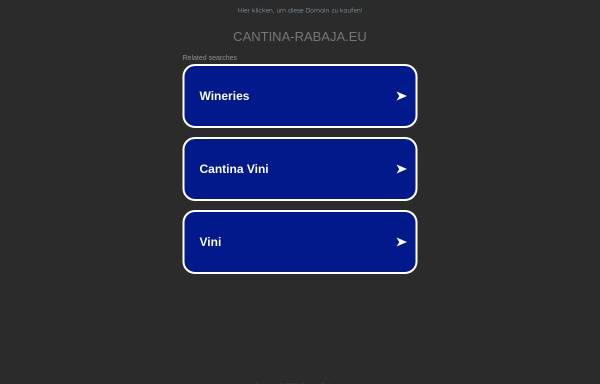 Vorschau von www.cantina-rabaja.eu, Cantina Rabaja