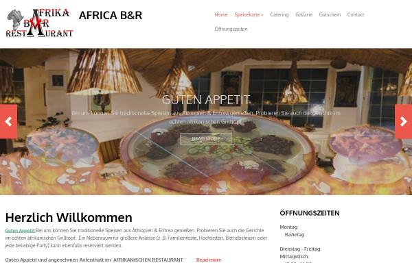 Vorschau von www.africa-tuebingen.de, Africa - Bar & Restaurant