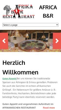 Vorschau der mobilen Webseite www.africa-tuebingen.de, Africa - Bar & Restaurant