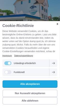Vorschau der mobilen Webseite www.hotel-meeresfriede.de, Hotel Meeresfriede, Siegfried Heinsohn