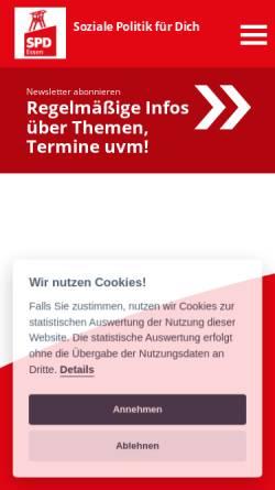Vorschau der mobilen Webseite spdessen.de, SPD Unterbezirk Stadt Essen