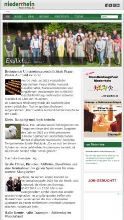 Vorschau der mobilen Webseite www.niederrheinzeitung.de, Niederrhein Zeitung