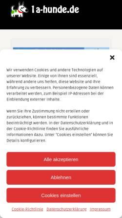 Vorschau der mobilen Webseite www.zwergspitz-pomeranian.de, Von Palatina Aurora