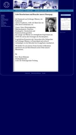 Vorschau der mobilen Webseite www.freiburger-dommusik.de, Freiburger Domchor, Freiburger Domkapelle, Domsingschule Freiburg