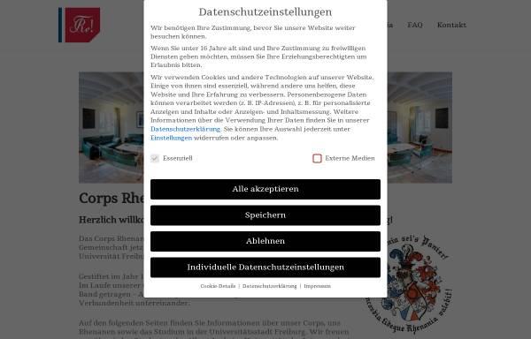 Vorschau von www.rhenania-freiburg.de, Rhenania