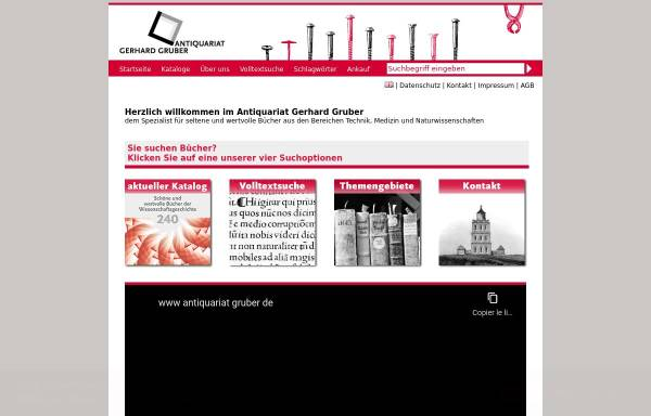 Vorschau von www.antiquariat-gruber.de, Antiquariat Gruber