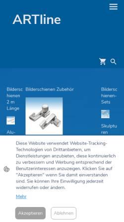 Vorschau der mobilen Webseite artline-shop.de, ArtLine-Shop