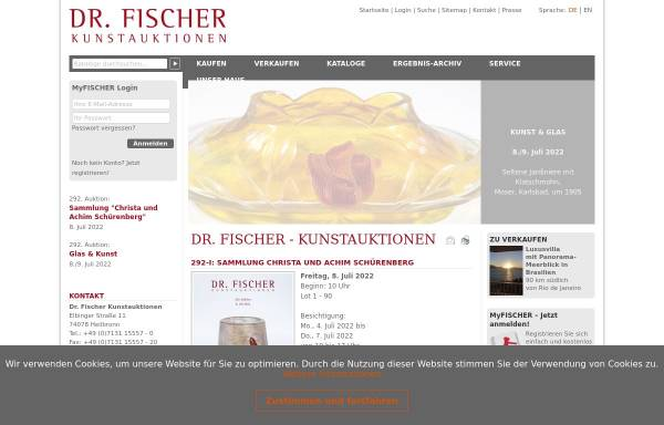 Vorschau von www.auctions-fischer.de, Dr. Jürgen Fischer