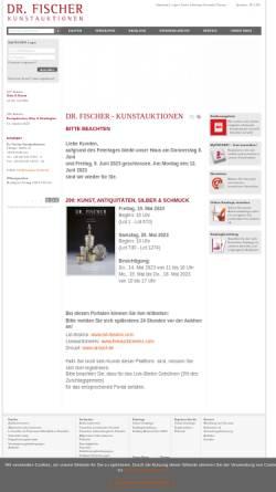 Vorschau der mobilen Webseite www.auctions-fischer.de, Dr. Jürgen Fischer