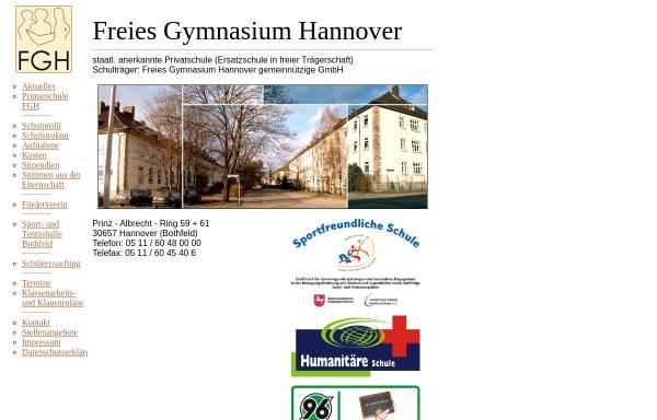 Vorschau von www.freies-gymnasium-hannover.de, Freies Gymnasium Hannover