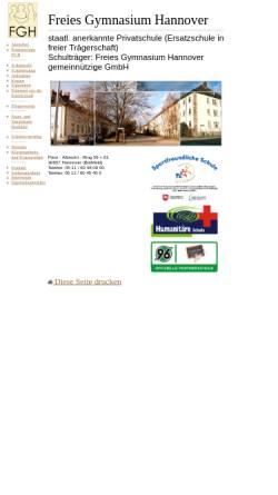 Vorschau der mobilen Webseite www.freies-gymnasium-hannover.de, Freies Gymnasium Hannover