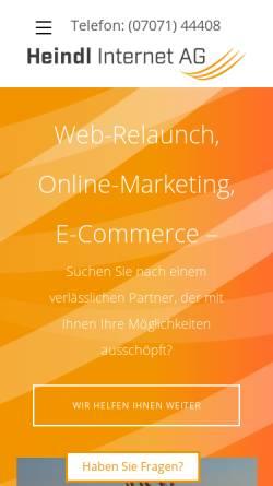 Vorschau der mobilen Webseite www.heindl.de, Heindl Internet AG
