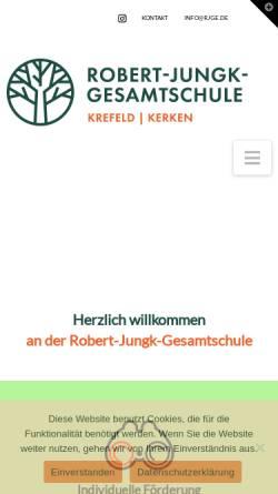 Vorschau der mobilen Webseite www.rjge.de, Robert-Jungk-Gesamtschule