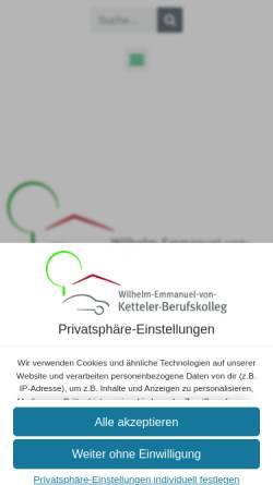 Vorschau der mobilen Webseite www.ketteler-berufskolleg.de, Wilhelm-Emmanuel-von-Ketteler-Berufskolleg