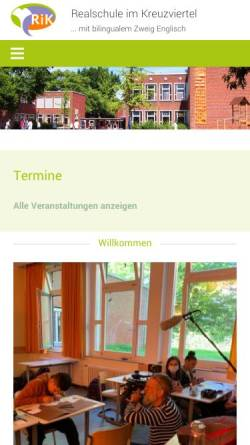 Vorschau der mobilen Webseite rik-muenster.de, Realschule im Kreuzviertel (RIK)