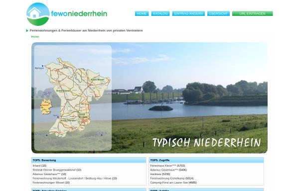 Vorschau von www.ferienwohnungen-niederrhein.de, Ferienwohnungen-Niederrhein