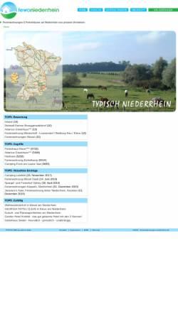 Vorschau der mobilen Webseite www.ferienwohnungen-niederrhein.de, Ferienwohnungen-Niederrhein