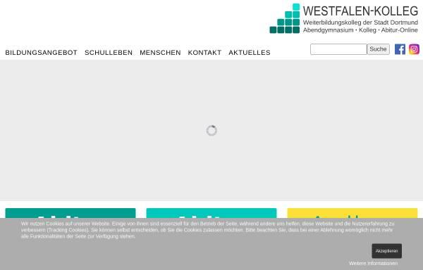Vorschau von www.westfalenkolleg-dortmund.de, Westfalen-Kolleg