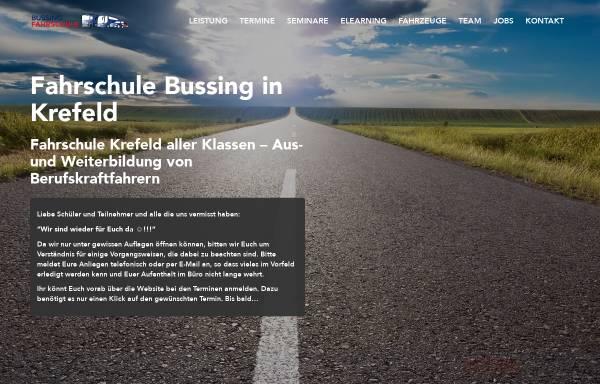 Vorschau von www.fahrschule-bussing.de, Fahrschule Horst Bussing