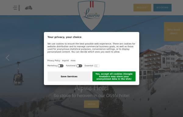 Vorschau von www.laurin.at, Alpenhotel Laurin