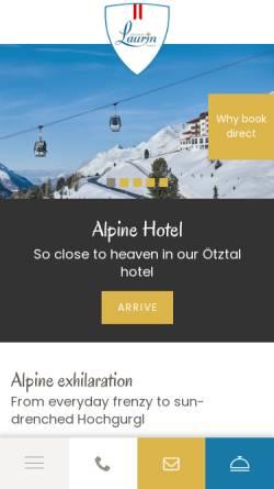 Vorschau der mobilen Webseite www.laurin.at, Alpenhotel Laurin