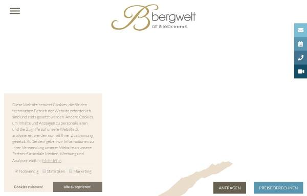 Vorschau von www.hotelbergwelt.com, Hotel Bergwelt
