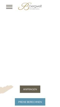 Vorschau der mobilen Webseite www.hotelbergwelt.com, Hotel Bergwelt