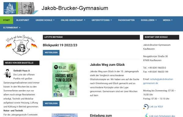 Vorschau von www.jakob-brucker-gymnasium.de, Jakob-Brucker-Gymnasium Kaufbeuren