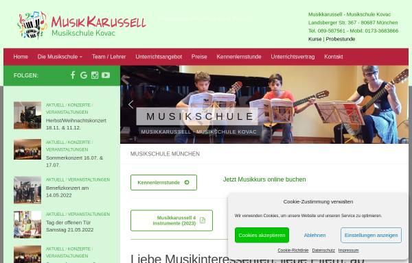 Vorschau von www.musikschule-kovac.de, Musikschule Kovac