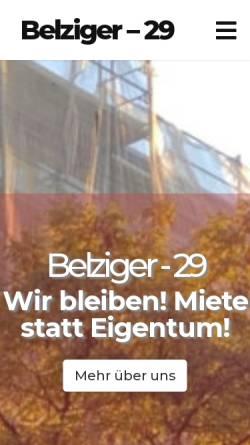 Vorschau der mobilen Webseite www.kiez-schoeneberg.de, Kiez Schöneberg