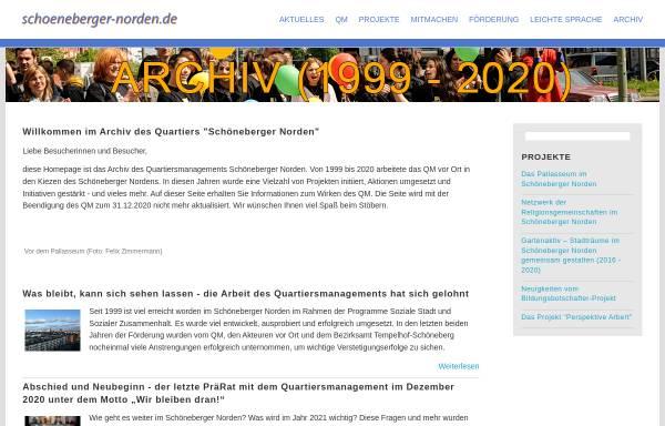 Vorschau von www.schoeneberger-norden.de, Schönberger Norden