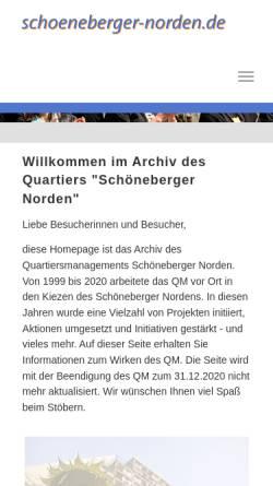 Vorschau der mobilen Webseite www.schoeneberger-norden.de, Schönberger Norden
