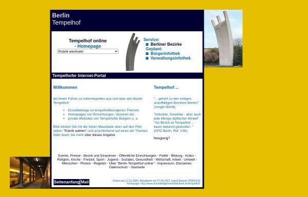 Vorschau von www.virtuelleallgemeinbibliothek.de, Tempelhof online