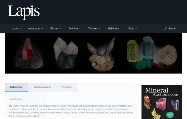 Vorschau von www.lapis.de, Lapis Mineralienmagazin