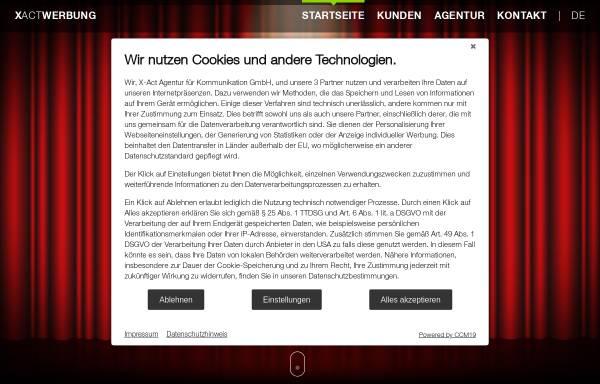 Vorschau von www.xactwerbung.de, X-act Agentur für Kommunikation GmbH