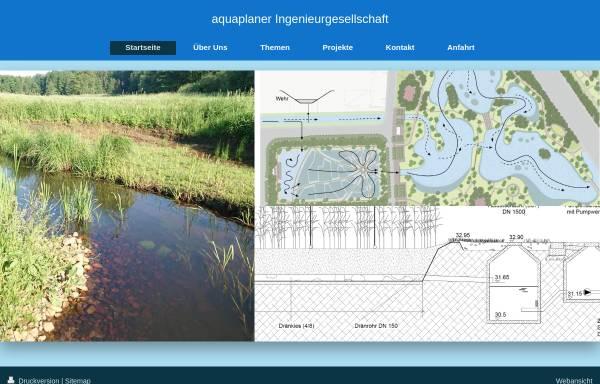 Vorschau von www.aquaplaner.de, Aquaplaner - Ingenieurgesellschaft für Wasserwirtschaft, Umwelt und Abwasser