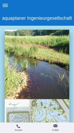 Vorschau der mobilen Webseite www.aquaplaner.de, Aquaplaner - Ingenieurgesellschaft für Wasserwirtschaft, Umwelt und Abwasser