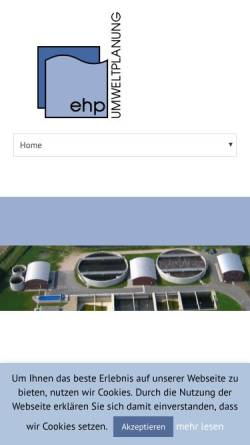 Vorschau der mobilen Webseite www.ehp-umweltplanung.de, Ehp Umweltplanung GmbH