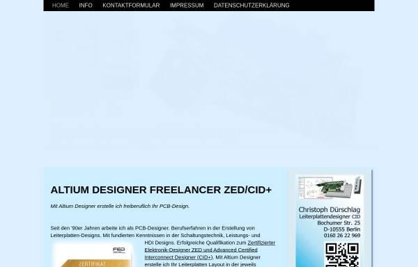 Vorschau von www.protel-pcb.de, Christoph Dürschlag